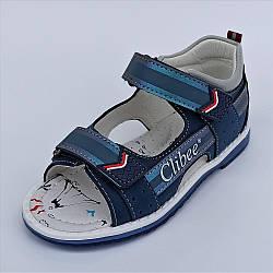Цікаві босоніжки на липучках, Clibee розміри: 29-32
