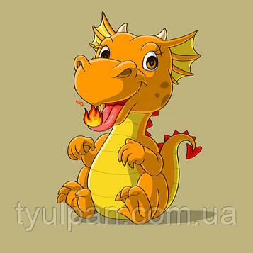 Вафельная картинка на пол листа размер 21*15 см дракон