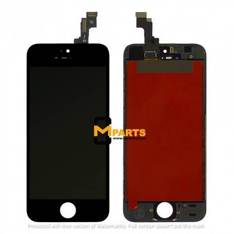 Дисплей для Apple iPhone 5s Черный (ААА), фото 2