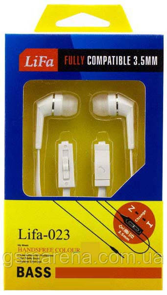Наушники с микрофоном Lifa-023 Белый