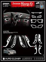 Хром накладки в салон Hyundai Elantra MD 2010-2015 (Autoclover C360)