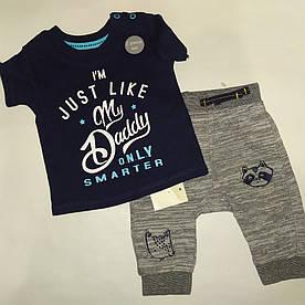 Детский костюм для новорожденных футболка и штаны George (Англия) р.62см (0-3мес.)
