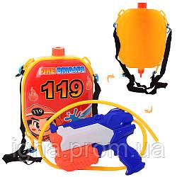 Водяной автомат M 5953 (36шт) 21см, с баллоном на плечи 24шт, в кульке, 32-24-8см
