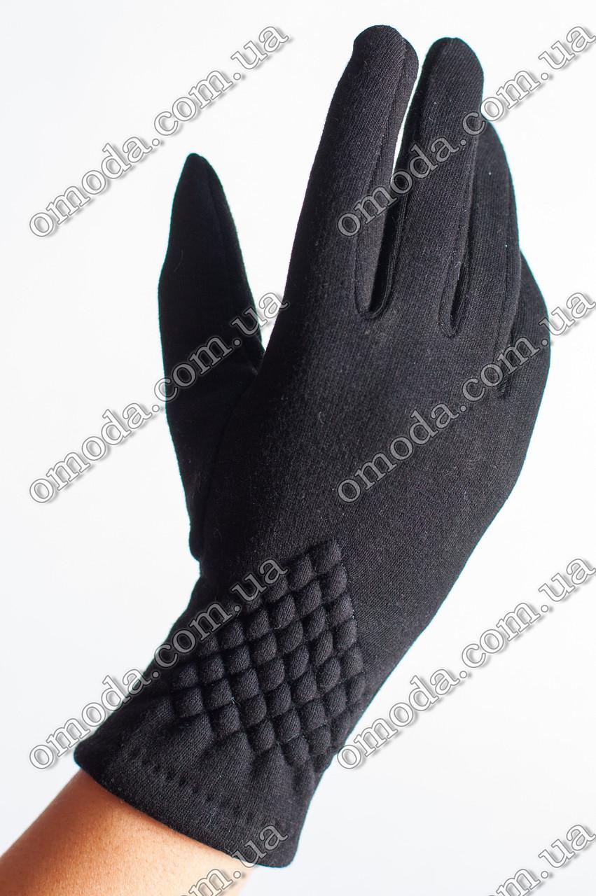 Женские зимние перчатки жатка чёрные акция