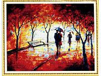 """Набор для вышивки картин стразами """"Зонтик на двоих"""" Размер: 59*48см Код 198313"""