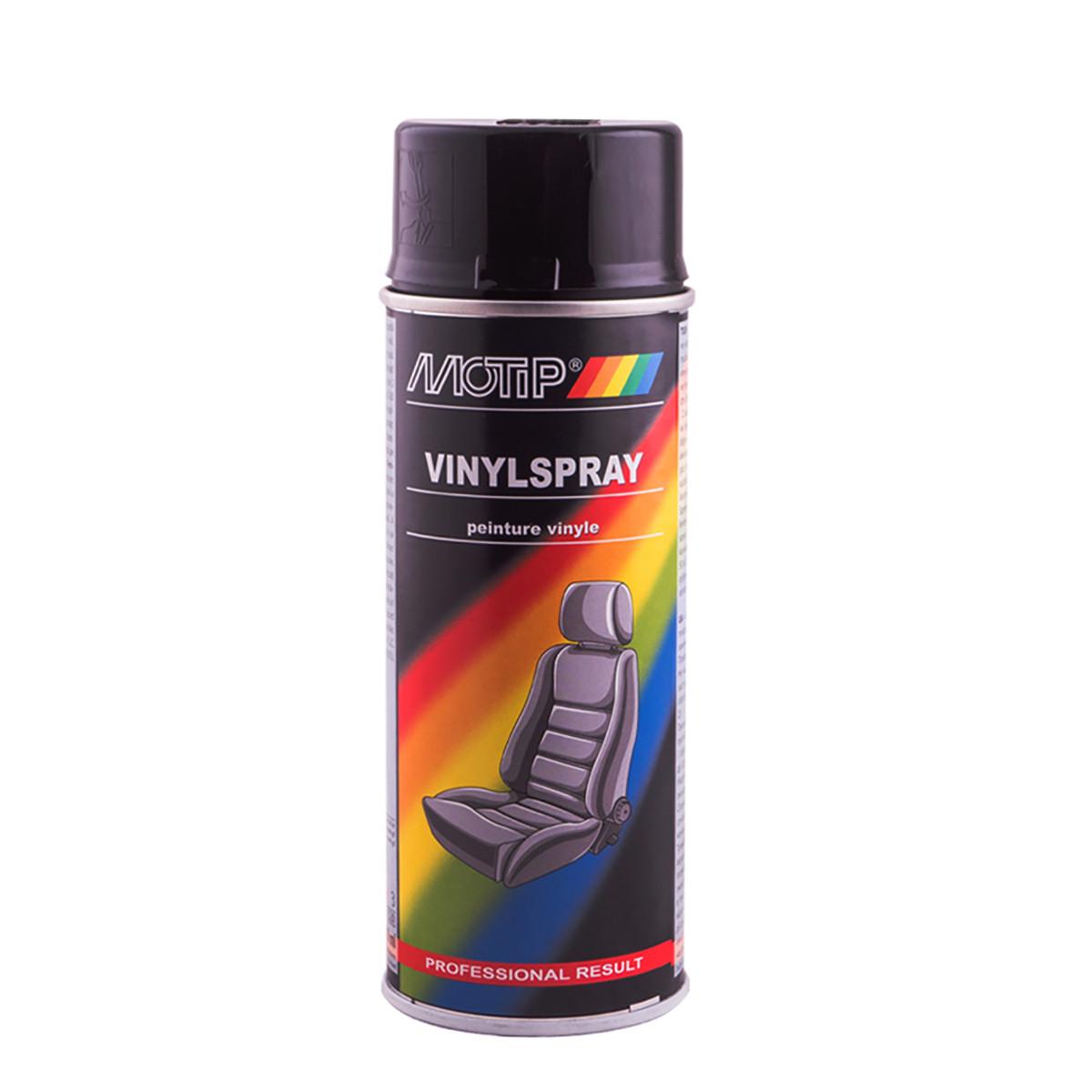 Эмаль аэрозольная для покраски кожи черная Motip 400 мл
