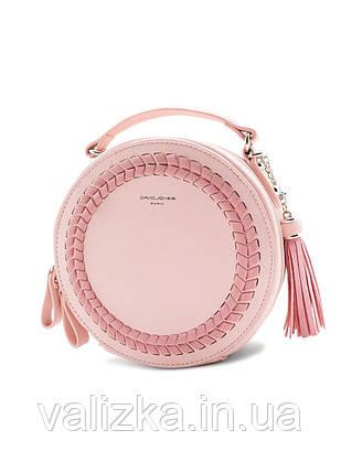 Сумка кросс-боди David Jones, женский клатч TD001 розового цвета., фото 2