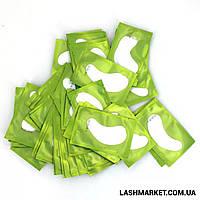 Гидрогелевые патчи для изоляции ресниц в зелёной  упаковке