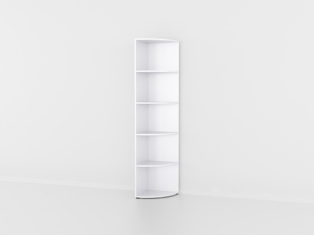 Полиця для книг кутова радіусна підлогова полиця з ДСП. Код: P0029