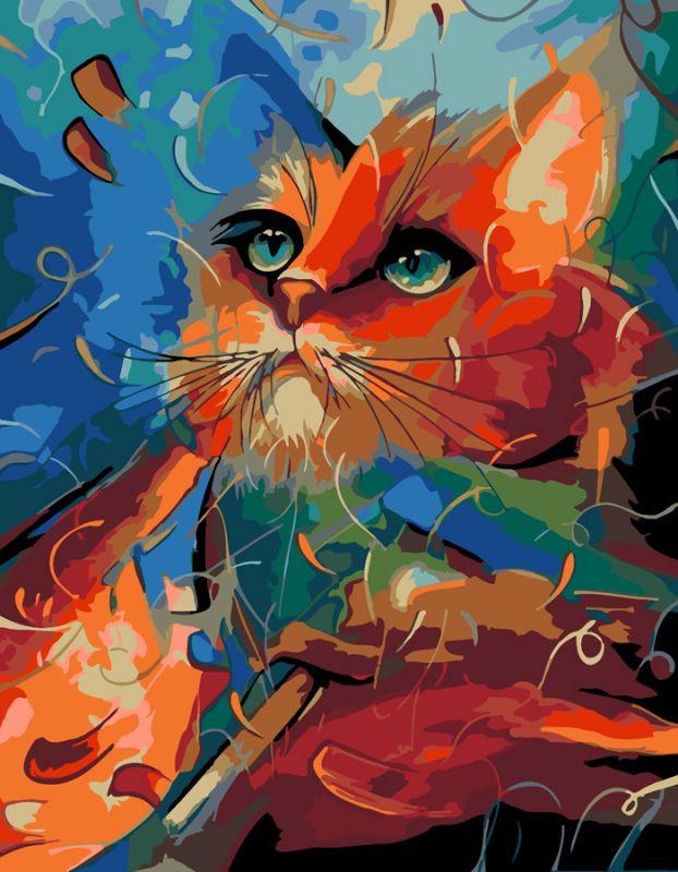 """Картина по номерам Rosa Start в упаковке  """"Bright Cat"""" 35х45см N00013219"""