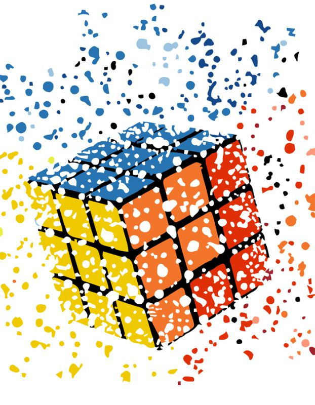 """Картина по номерам Rosa Start в упаковке  """"Кубик Рубика"""" 35х45см N00013186"""