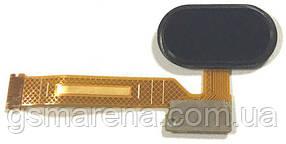 Шлейф для Meizu Mx5 центральная кнопка (Home) Черный