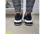 Кроссовки черные текстильные на амортизаторах компенсаторе 37 (2156), фото 5