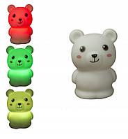 Силиконовый LED ночник Медведь MTY-203