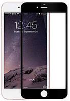 Защитное стекло 4D для Apple iPhone 6+, 6S+ (0.3mm, 3D, 4D), Japan, черное, с олеофобным покрытием)