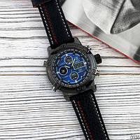 Часы AMST 3022 Black-Blue Fluted Wristband Original точная копия, качество AAA
