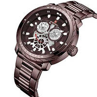 Часы Naviforce NF9158 All Brown Original точная копия, качество AAA