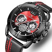 Часы Naviforce NF9168 Black-Red Original точная копия, качество AAA