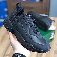 Кросівки Чоловічі та Жіночі Puma Thunder Leather Black (40-44)