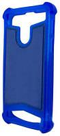 Универсальный Чехол накладка силикон-кожа 4.0-4.5'' Синий