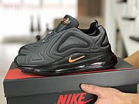 Мужские кроссовки Nike Air Max 720, серые с черным