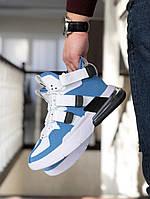 Мужские кроссовки Nike Air Force 270, белые с голубым