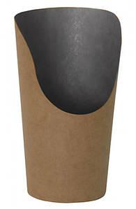 Стакан бумажный для снеков 88*130*61мм крафт с черной ламинацией