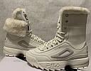 Кроссовки  Ботинки сникерсы  Фила  Fila Disruptor Shearling Boot  (Размер 26 см) Оригинал, фото 9
