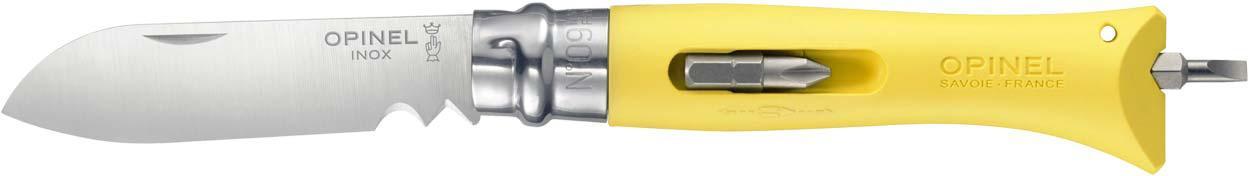 Нож Opinel DIY №9 Inox желтый