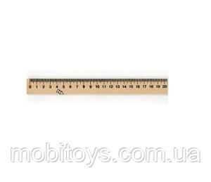 Линейка 20 см, деревянная Ш.К. 2000963958491