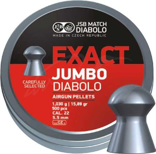 Кулі для пневматики JSB Exact Jumbo, 5,52 мм , 1,03 г, 500 шт/уп