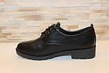 Туфли женские черные на шнуровке Т087, фото 2
