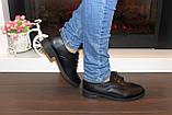 Туфли женские черные на шнуровке Т087, фото 3