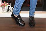 Туфли женские черные на шнуровке Т087, фото 4