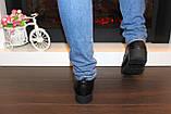 Туфли женские черные на шнуровке Т087, фото 5