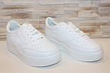 Кеды женские белые на шнуровке Т1007, фото 3