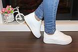 Кеды женские белые на шнуровке Т1007, фото 6