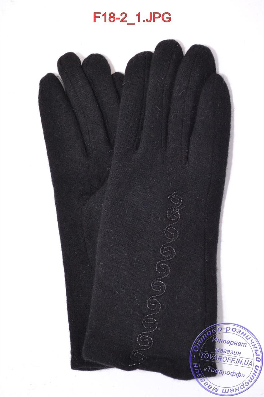 Оптом женские кашемировые перчатки на кролике (мех искусственный) - F18-2