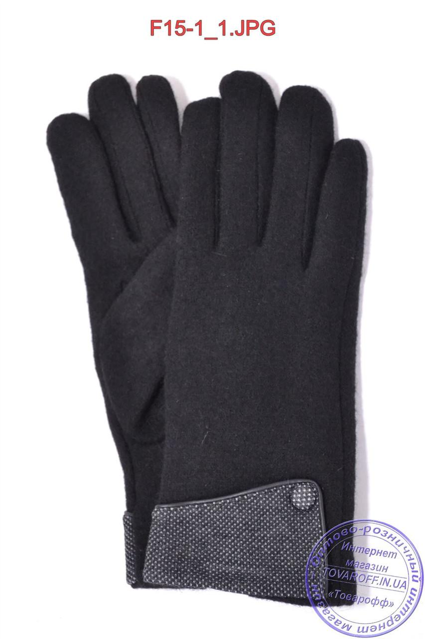 Оптом женские кашемировые перчатки на плюше - F15-1
