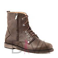 Чудесные ботинки женские зимние 7008-brownz распродажа женской зимней обуви
