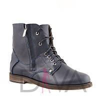 Ботинки синие женские зимние 2017 7008-bluez купить ботинки оптом дешево от производителя 2017