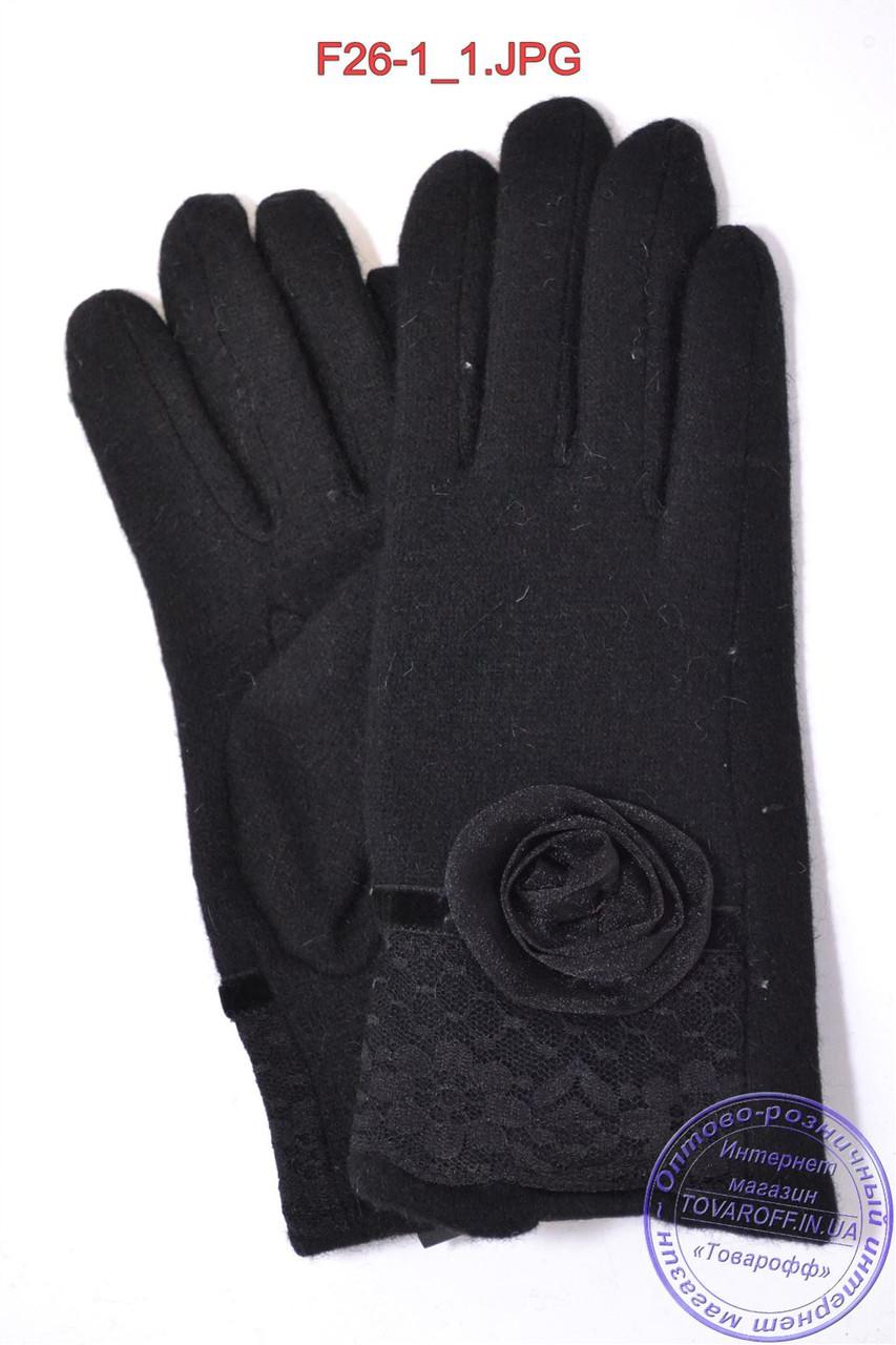 Женские кашемировые перчатки на махре - F26-1