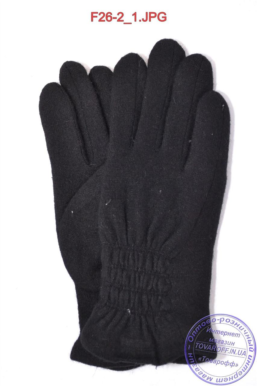 Оптом женские кашемировые перчатки на махре - F26-2