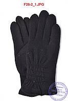 Оптом женские кашемировые перчатки на махре - F26-2, фото 1