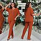"""Женский стильный брючный костюм в батальных размерах 839 """"Креп Подвеска"""" в расцветках, фото 2"""