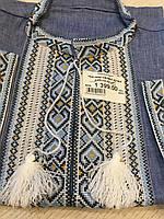 Вишиванка чоловіча на короткий рукав з орнаментом та мережкою розмір 56
