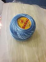 Нитки поліестер (штучний шовк) типу Ірис ( Iris )  20 грам, голубий