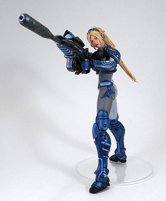 """Статуэтка призрак Nova Dominion Ghost """"Heroes of the Storm"""" 15см, StarCraft 2, фигурка Нова"""