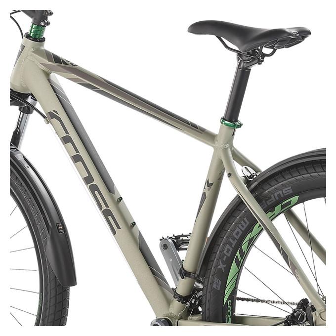 "Велосипед 27,5"" CROSS Rival рама 15"" 2017 серый"