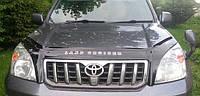 Дефлектор капота (мухобойка) Land Cruiser Prado 120 2003-2009 с клыками, Vip Tuning, TYA24